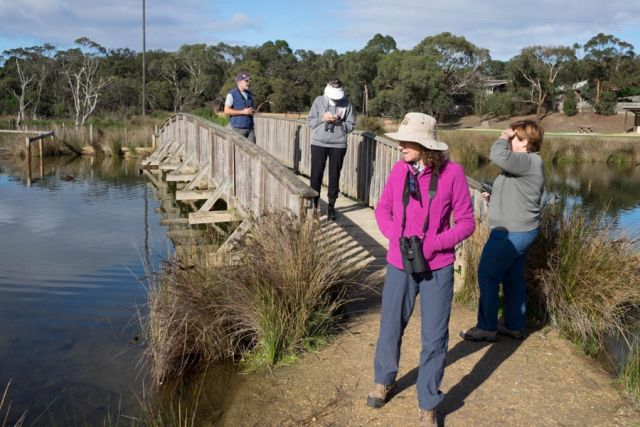 Our small group at Coogoorah Park, Anglesea