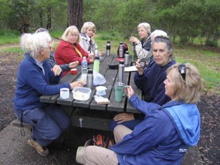 Morning tea at Distillery Creek